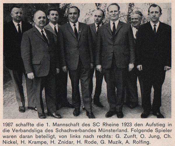 Aufstieg in die Verbandsliga 1967
