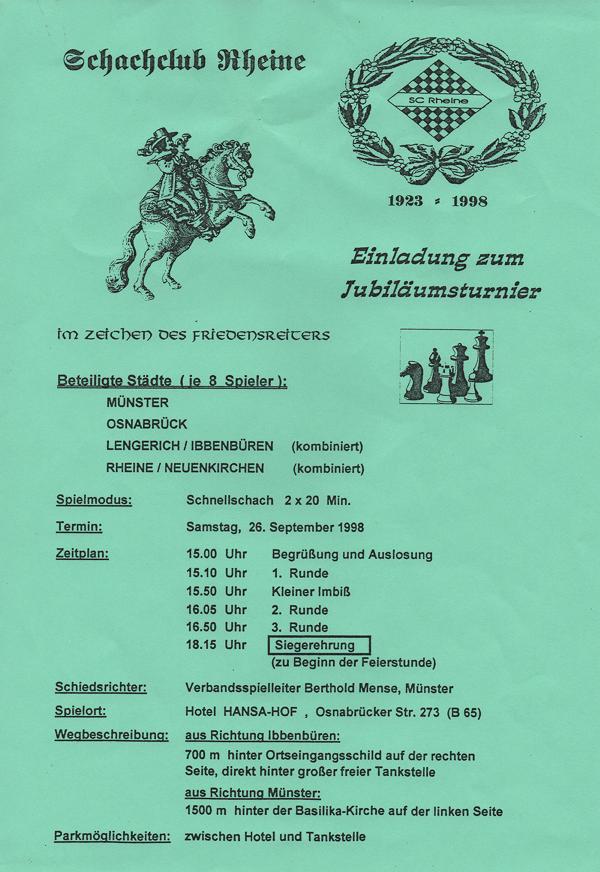 Jubiläumsplakat